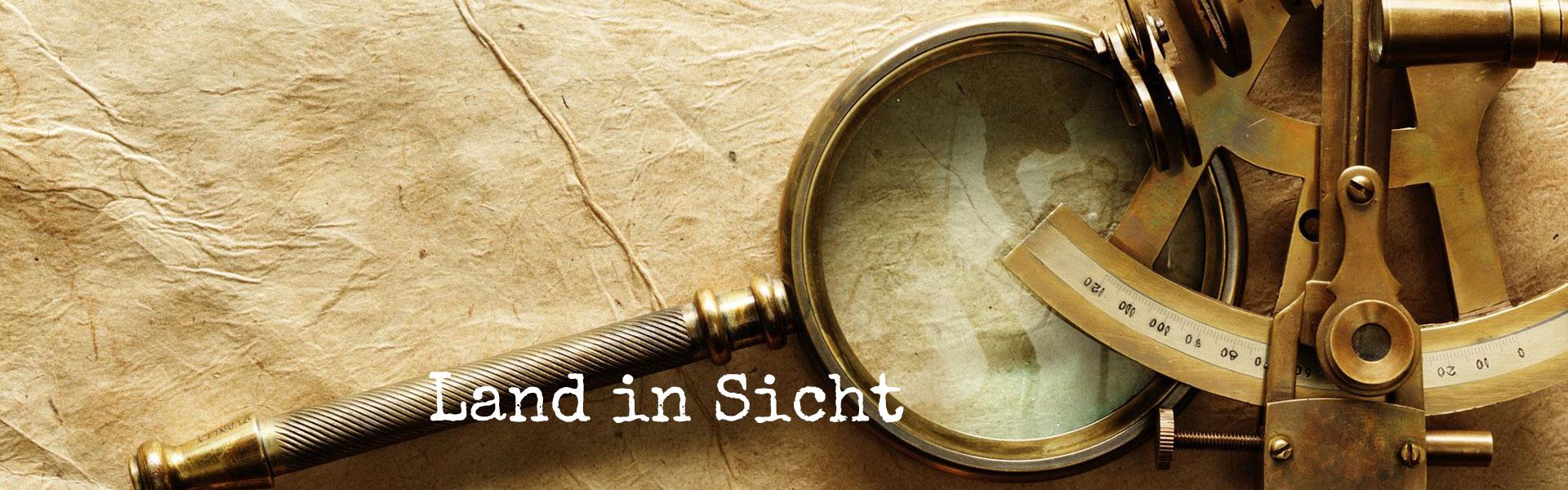 Zirkel, Sextant, Kompass und Lupe